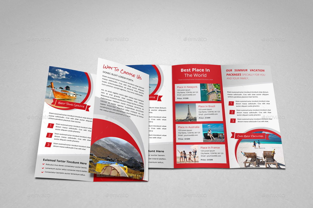 Tour Brochure Design Ideal Vistalist Co