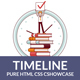 Timeline -Showcase - Pure HTML & CSS