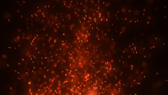 Falling Stars Grunge Wallpaper Fire Embers Loop By Patgrap Videohive