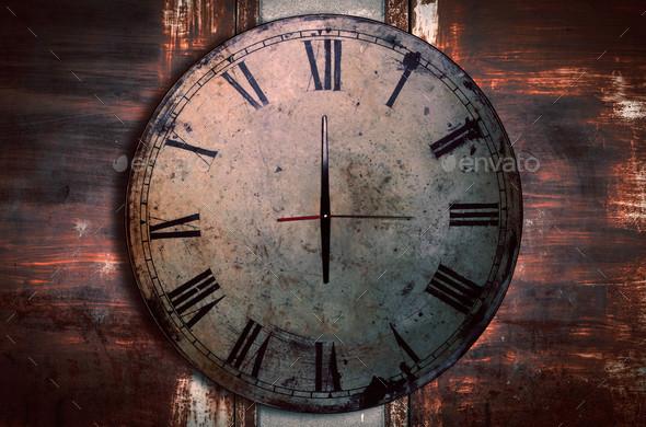 antique clocks on the