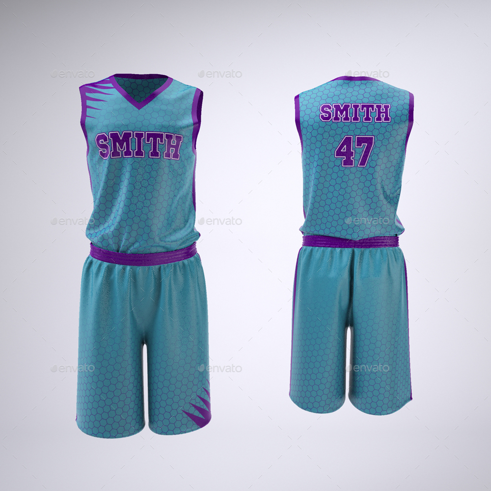 Download Basketball Jersey and Shorts Uniform Mock-Up by Sanchi477 ...