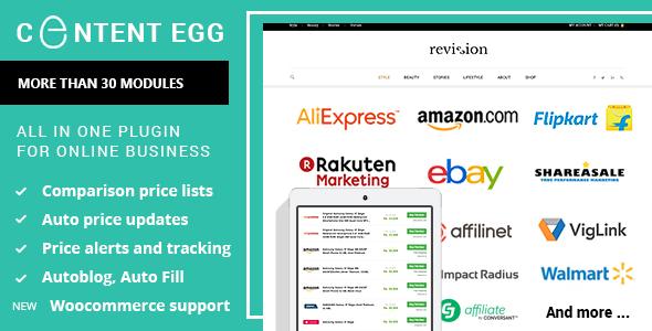 Huevo de contenido: todo en un complemento para afiliados, comparación de precios, sitios de ofertas