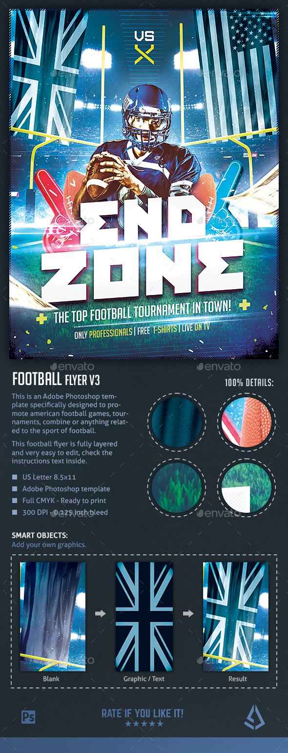 Football Flyer V3 American Football Night Design Template Sports Events
