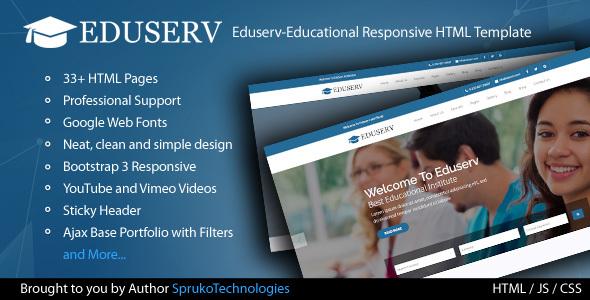Eduserv-Educational Multipurpose Responsive Bootstrap HTML