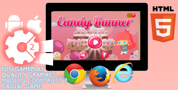 Game Candy Runner - Item CodeCanyon for Sale