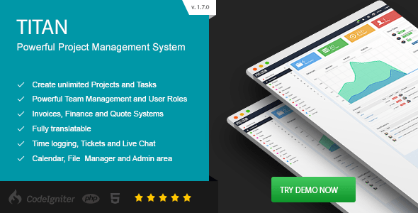 TITAN - Project Management System by Patchesoft | CodeCanyon