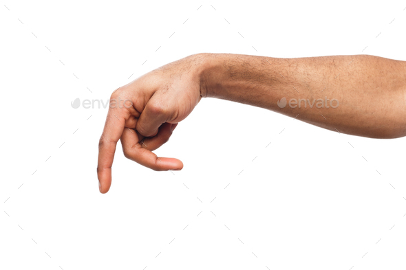 hand gestures man pointing