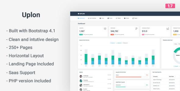 Uplon - Responsive Bootstrap 4 Web App Kit
