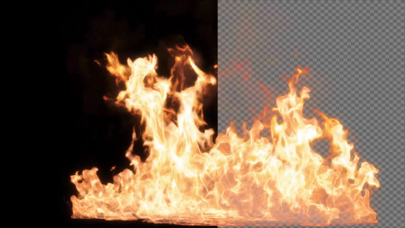 realistic fire alpha