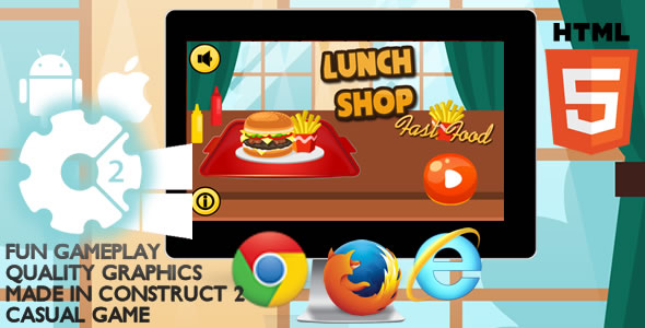 Shop Lunch Html5 Game - Codeany Item for Sale
