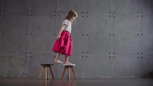 little girl chairs kids and table walking on small by diproduction videohive stock footage