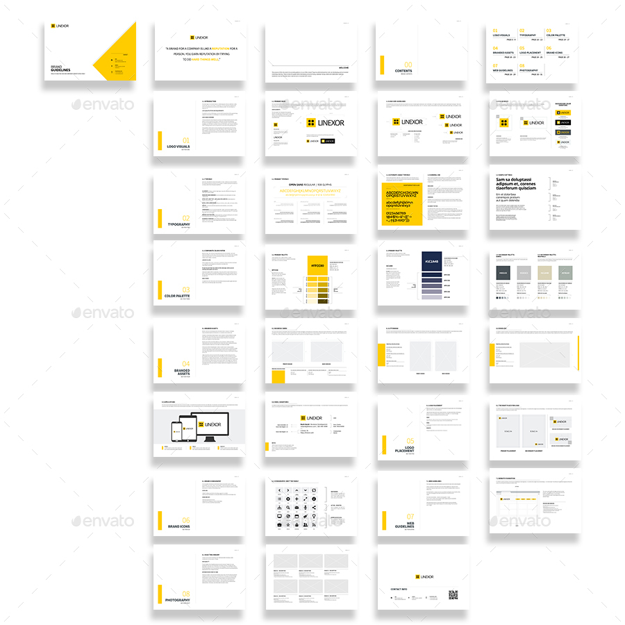 Brand Manual 32 Pages A4 / US Letter by Mastergfx