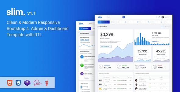 Slim - Modern & Clean Responsive Bootstrap 4 Admin Dashboard Template