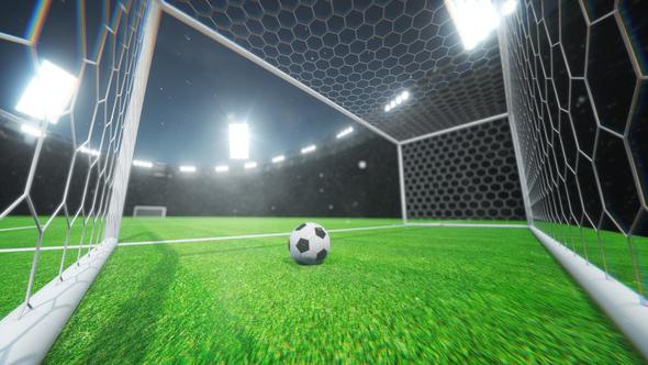 football goal loop background