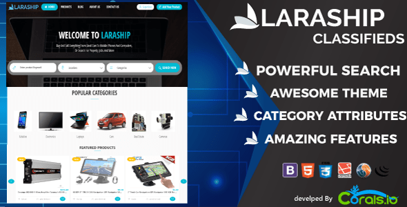Laraship Classified : Amazing Ad Listing and Classified Platform fully integrated with features