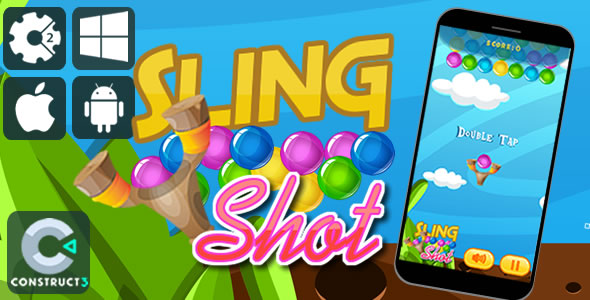Sling Shot Html5 Game - Item Code for Sale