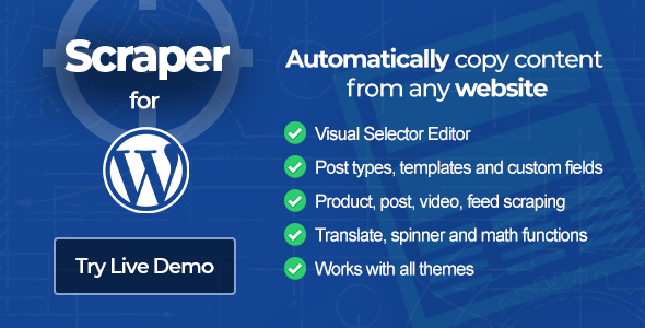 Scraper - Content Crawler Plugin for WordPress version 1.0.42