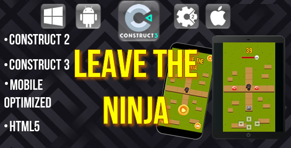 Leave the ninja - Html5 Game template - CodeCanyon Item for Sale