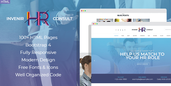 Invenir is a great html website template made for hr consulting services, recruiting firms and firms and hr solution companies. Invenir Hr Recruiting Agency Html Template By Mwtemplates Themeforest