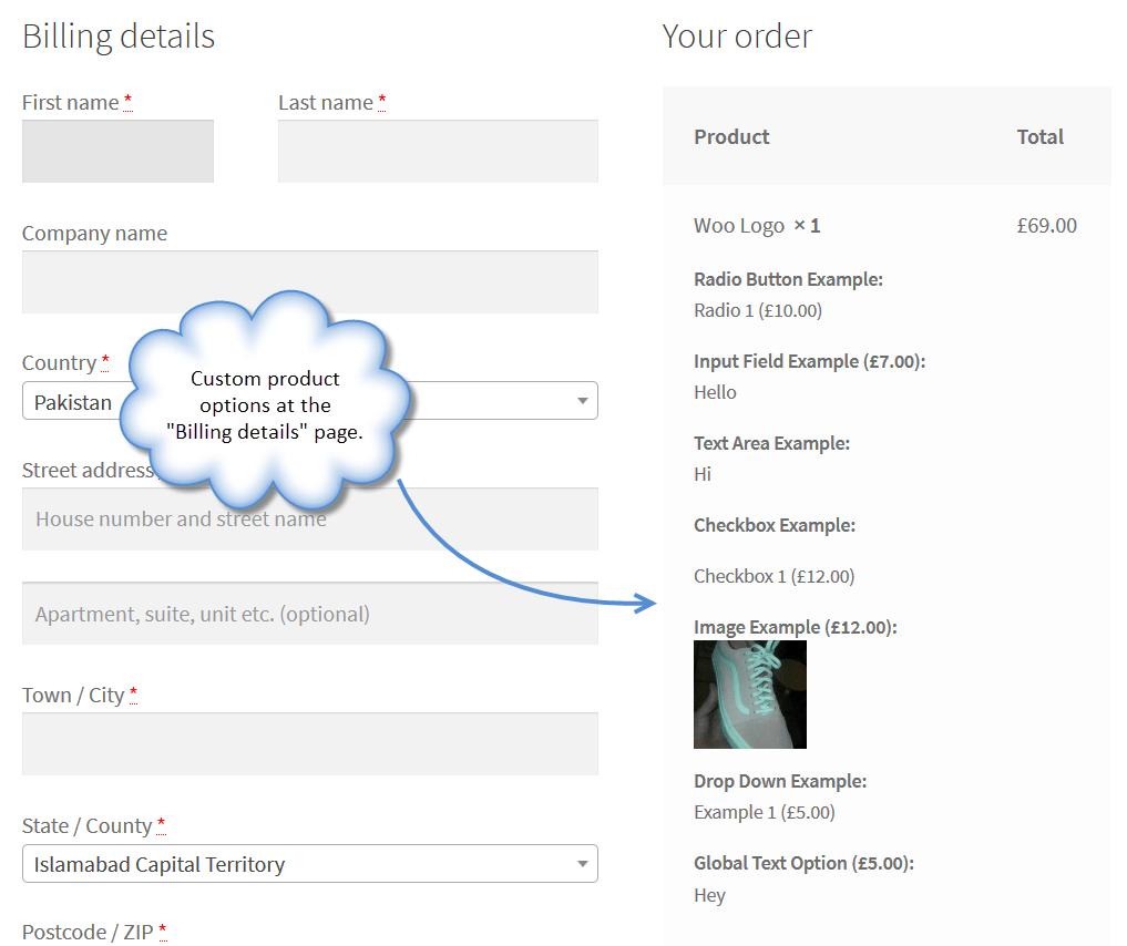 WooCommerce Product Add-Ons Plugin, Add Custom Product
