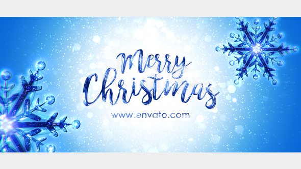Snowflake Christmas Greeting Full HD After Effects Video Template