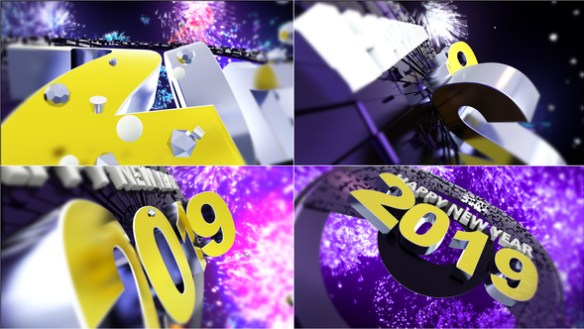 New Year 2019 Full HD After Effects Video Template