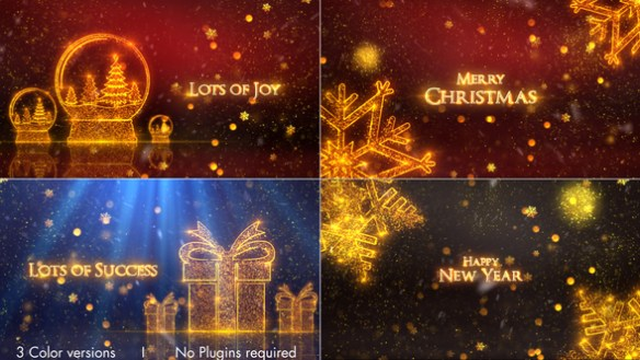 Christmas Greetings Full HD, 1920×1080 Pixels, After Effects Template