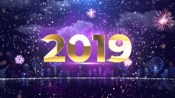 New Year Countdown With Fireworks Full HD After Effects Video Template
