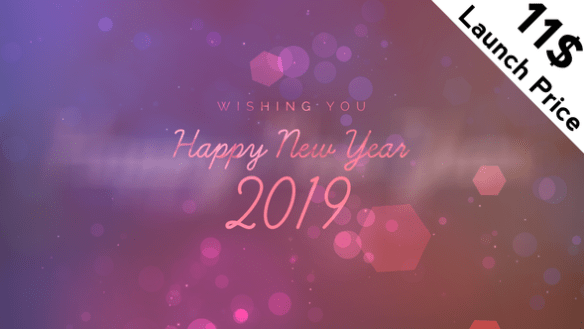 New Year Wishes After Effects Full HD Video