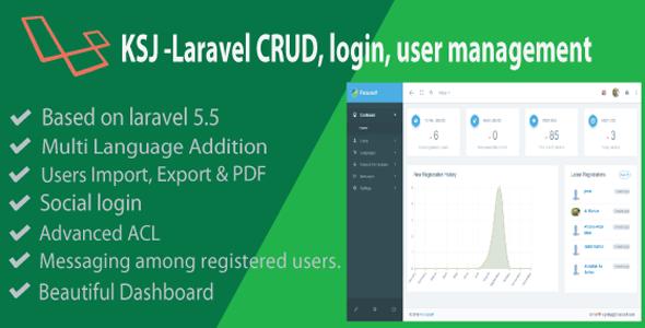 KSJ Laravel CRUD & Login Management
