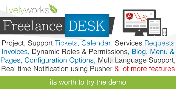 FreelanceDesk - Support System   Project Management   CRM