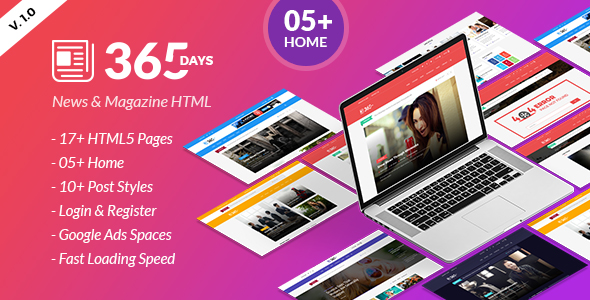 The Daily - News HTML Template - 5