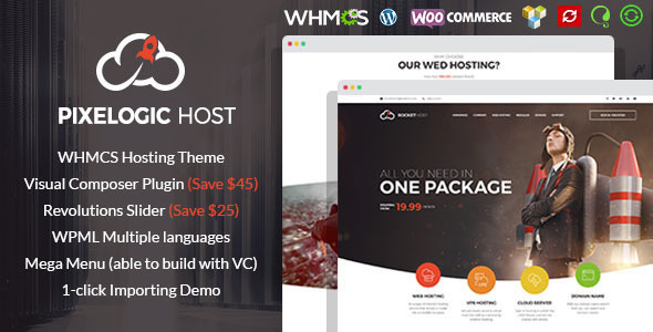 Pixelogic - WHMCS Hosting, Shop & Corporate Theme