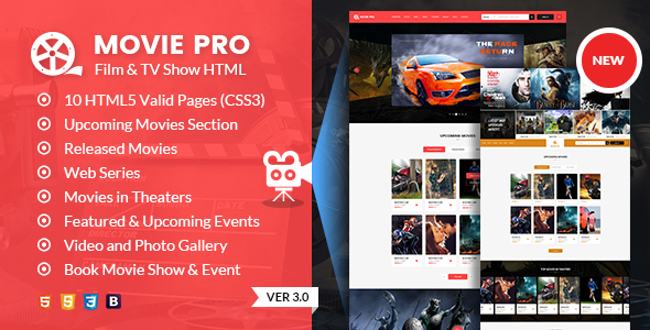 Movie Pro Film And Tv Show Html Template