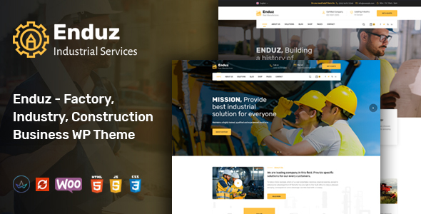 Enduz - Industrial & Factory Business WordPress Theme