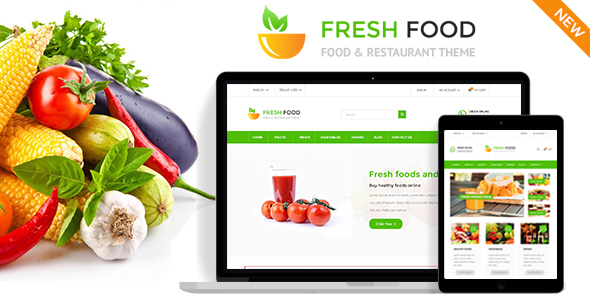 fresh food prestashop theme
