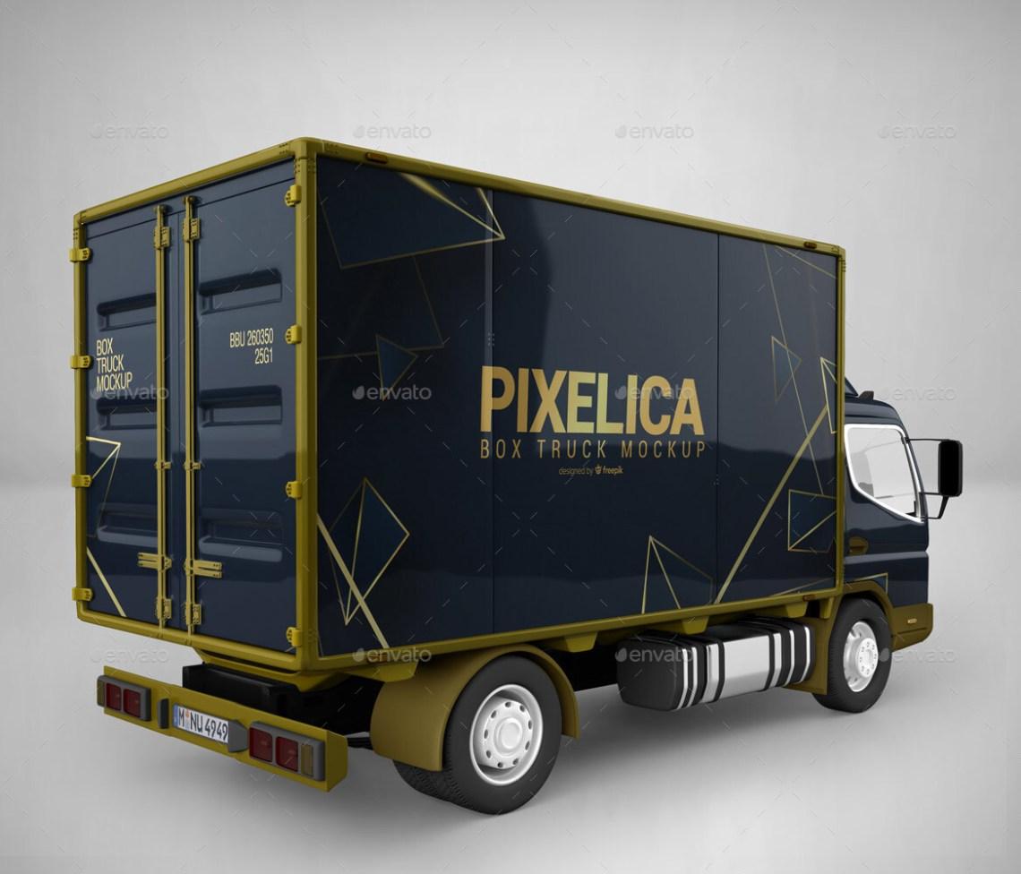 Download Box Truck Mockup by Pixelica21 | GraphicRiver