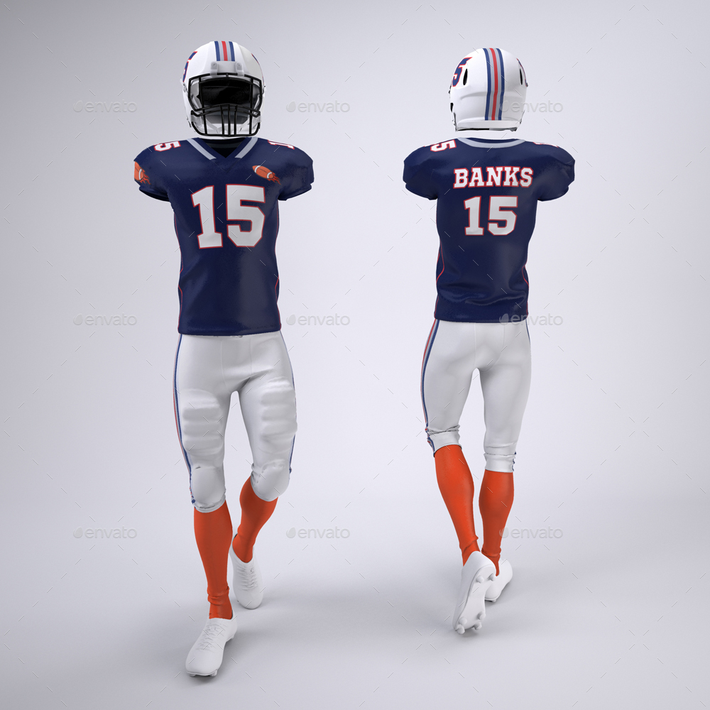 Download American Football Jersey Mockup - MGP Animation