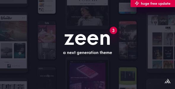 Zeen | Next Generation Magazine WordPress Theme version 3.9.6.1