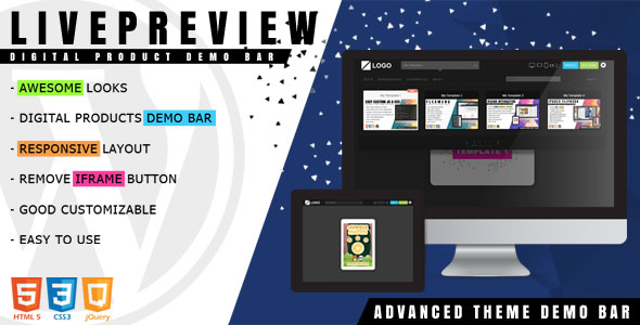 LivePreview - Theme Demo Bar for WordPress version 1.2.2