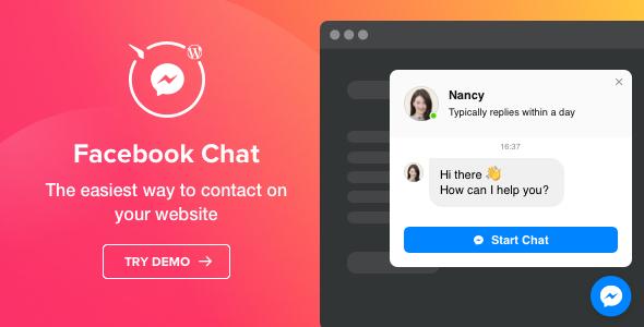 Facebook Chat - WordPress Facebook Messenger version 1.2.0