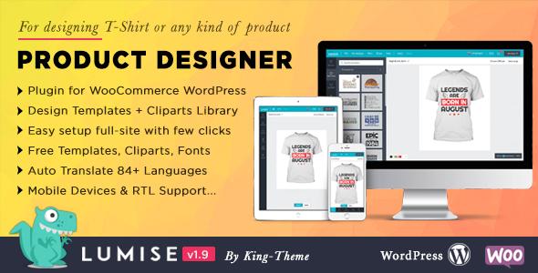 Product Designer for WooCommerce WordPress | Lumise version null