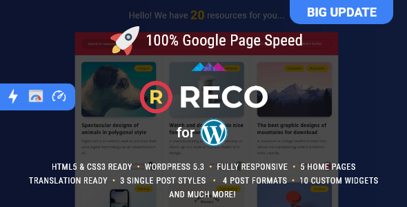 Reco - Minimal Theme for Freebies version 4.5.5