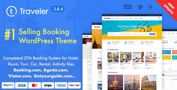 Travel Booking WordPress Theme version 2.8.8