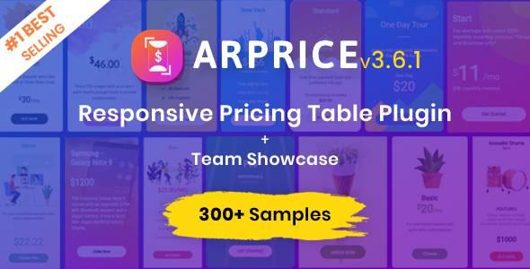 ARPrice - WordPress Pricing Table Plugin version 3.7.1