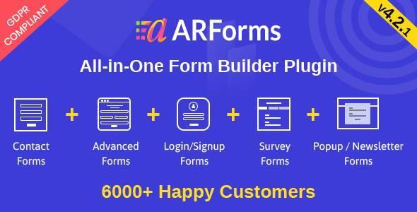 ARForms: Wordpress Form Builder Plugin version 4.2.1