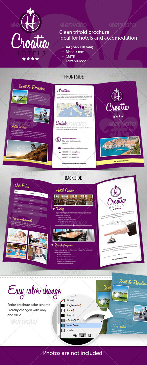 Hotel Trifold Brochure By Msudar GraphicRiver