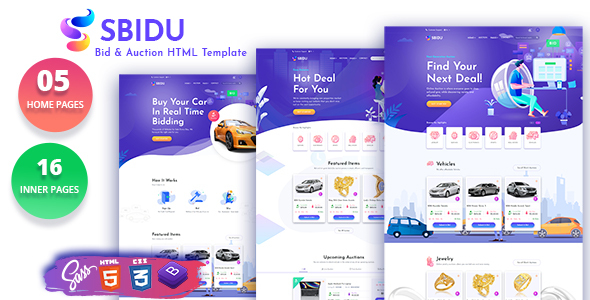 This template empowers you to communicate your web design pricing, qualifications, and terms. Sbidu Bid And Auction Html Template Bootstrap4
