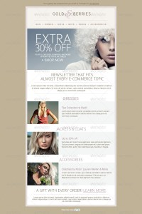 Fashion Ecommerce Email Newsletter Template by mariarti ...