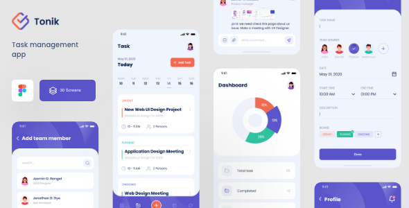 First, find the task name column on your worksheet, and enter a descriptive name for each task you want to track for a particular day of the week. Tonik Task Management Figma App Template By Devignedge Themeforest